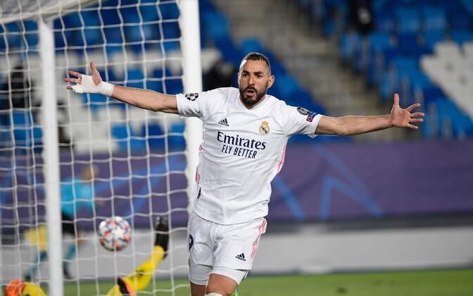 Karim Benzema lõi Madridi Reali eest kaks väravat