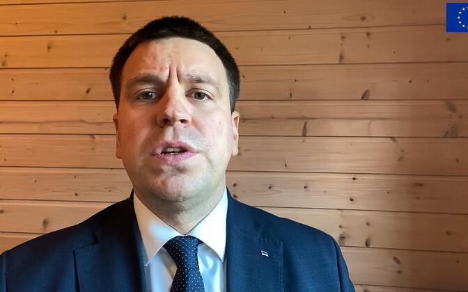 Jüri Ratas video vahendusel riigiasju ajamas
