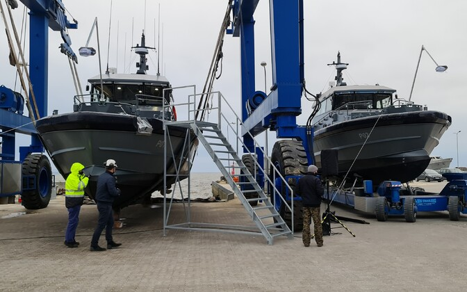 Launch of the Merevägi's two new Saaremaa-built patrol vessels, the EML Roland and EML Risto