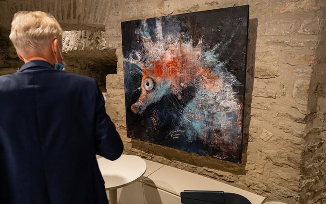 """Paksus Margareetas avati Katrin Karu mereteemaline maalinäitus """"Veetee""""."""