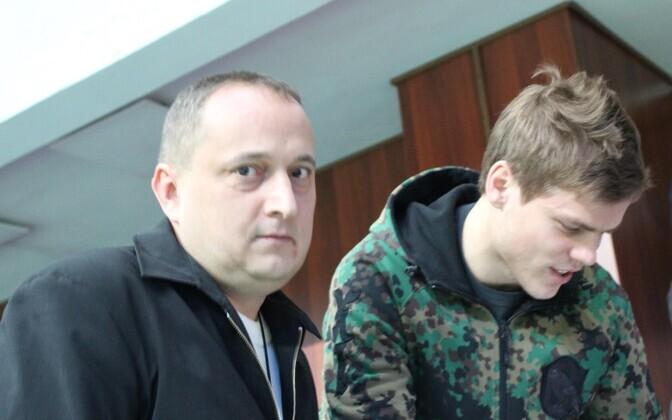 Дмитрий Азаров и футболист Александр Кокорин.