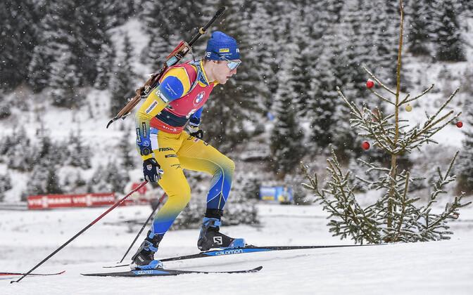 Sebastian Samuelsson tõi Rootsi meeskonna finišisse esikohal.