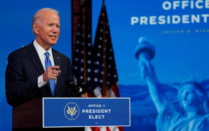 Joe Biden telepöördumist tegemas.