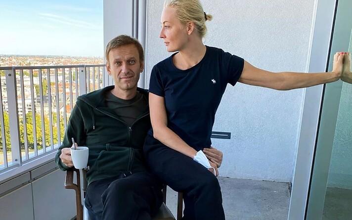 Юлия и Алексей Навальные.