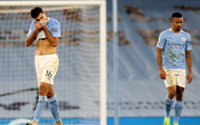 Rodri ja Gabriel Jesus pärast viiki West Bromwich Albioni vastu