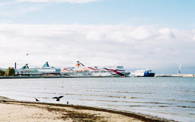 Ferries at Tallinn's harbor.