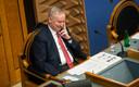 Siim Kallas riigikogu istungit juhatamas.