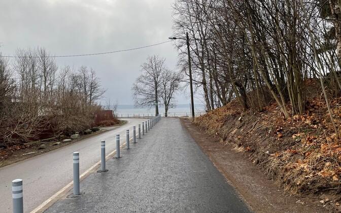 Пешеходно-велосипедная дорожка на Какумяэ теэ.
