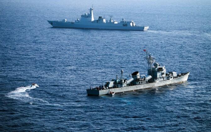 Hiina sõjalaevad Lõuna-Hiina merel