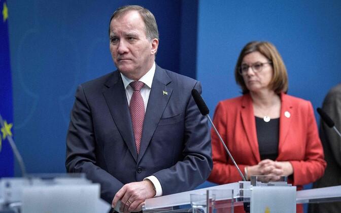 Rootsi peaminister Stefan Löfven ja asepeaminister Isabella Lovin.