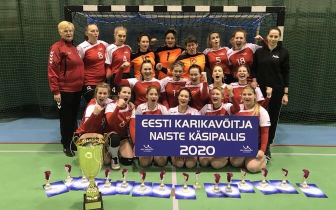 Naiste käsipalli karikavõistluste võitja Reval/Sport/Mella.