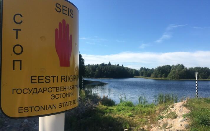 Part of the Russian-Estonian border in Southeastern Estonia.