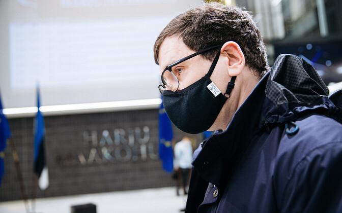 Пеэтер Хельме на оглашении приговора 30 ноября.