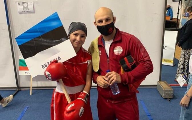 Диана Горишная и ее тренер Владимир Чуркин.