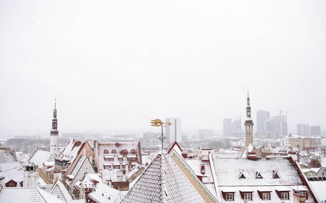 Snow in Tallinn on December 23, 2020.
