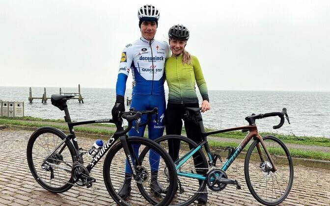 Fabio Jakobsen ja tema tüdruksõber Delore