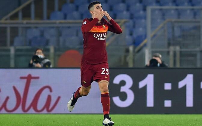 Gianluca Mancini väravat tähistamas