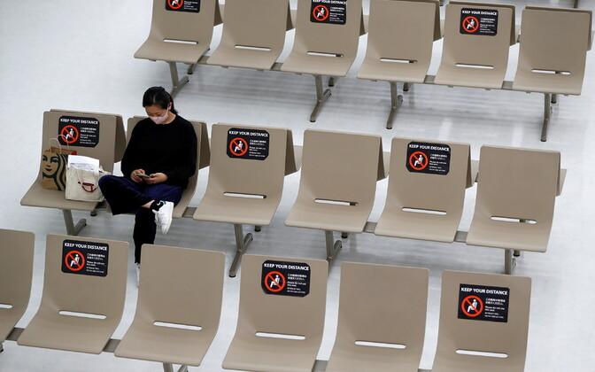 Koroonapiirangud Narita lennujaamas.