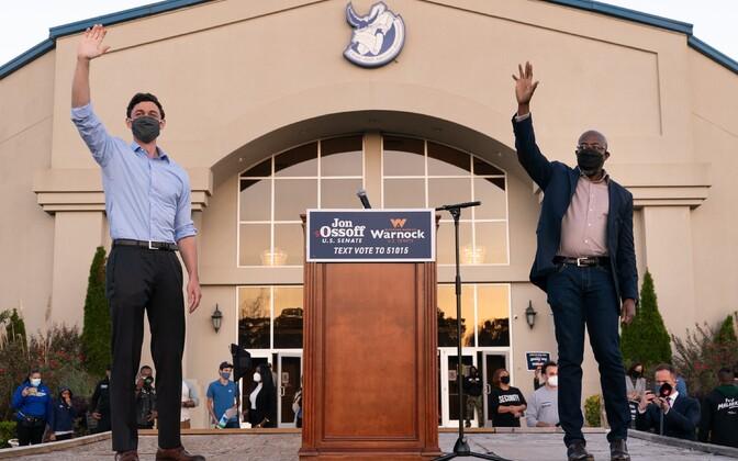 USA demokraatliku partei liikmed Raphael Warnock ja Jon Ossof