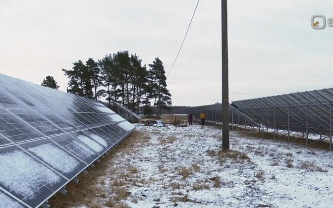One of Metsagrupp's Pärnu County solar panel parks.