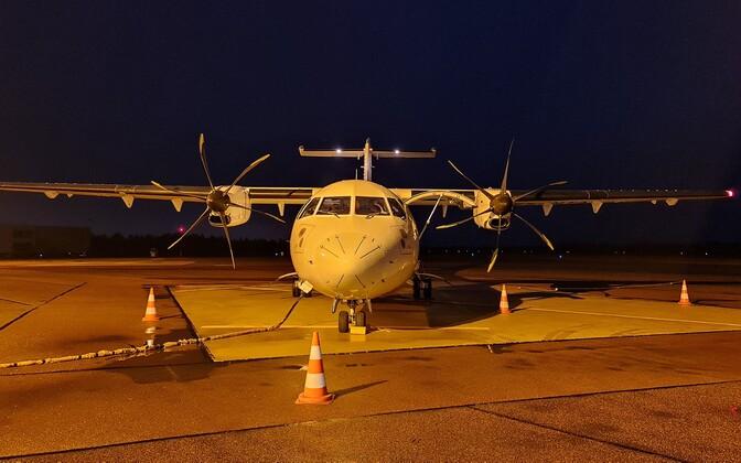 Regular NyxAir ATR 42-500 plane.