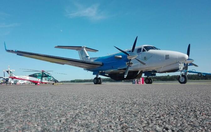 Наблюдательный самолет Департамента полиции и погранохраны.