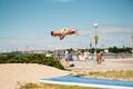 Спортивные гимнасты на пляже Штромка.