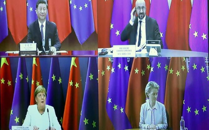 Euroopa Liidu ja Hiina virtuaalne tippkohtumine