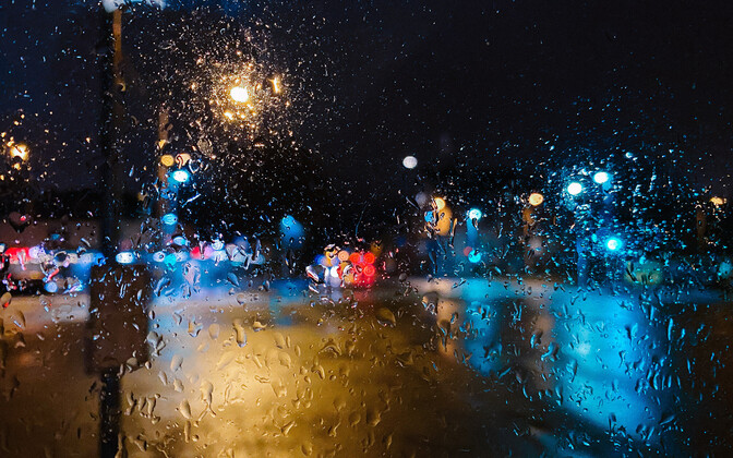 Rain, sleet, snow and dark conditions will see in the New Year.