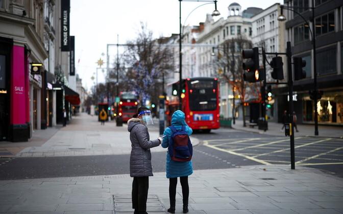 Inimesed Londonis.