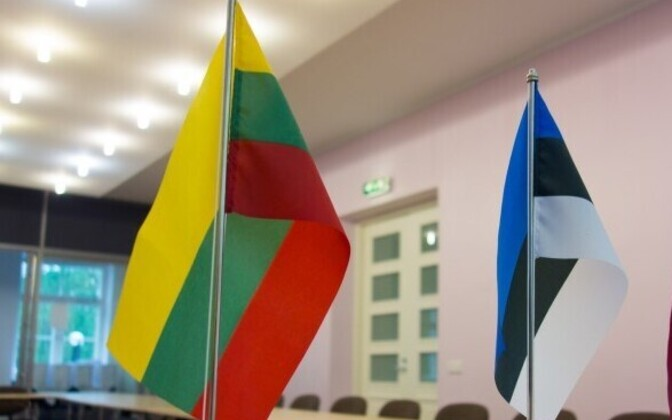 Lithuanian and Estonian flags.