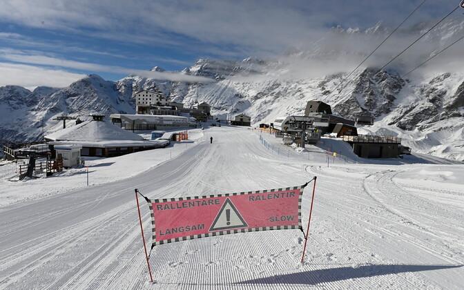 Cervinia Ski Paradise suusakuurort Itaalias.