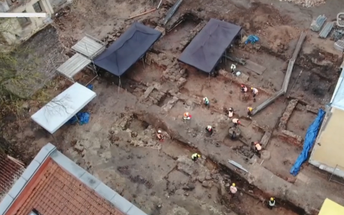 Excavations on the new building of the University of Tartu.
