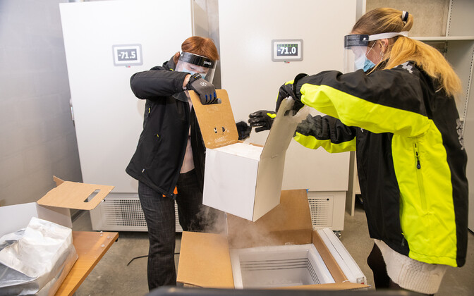 The first doses of the coronavirus vaccine arrived in Estonia on December 26.