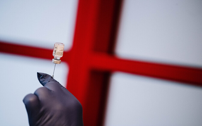 Doctors were the first to be vaccinated for COVID-19 in Tallinn on December 27.
