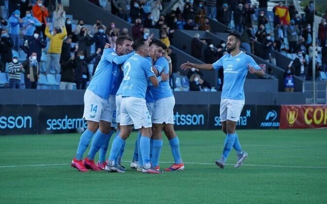 UD Ibiza Vigo Celtale löödud väravat tähistamas
