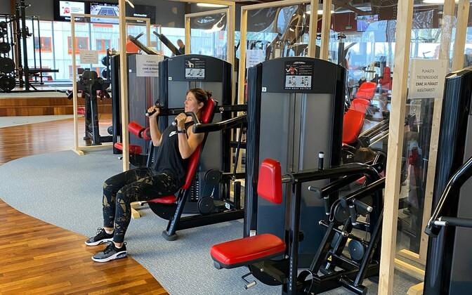 A gym.