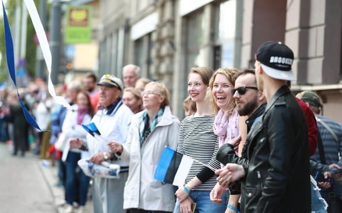 XXVII Song and XX Dance Festival parade in Tallinn on July 6, 2019.