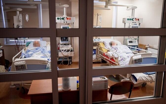 Отделение для пациентов с коронавирусом в больнице Алитуса в Литве.