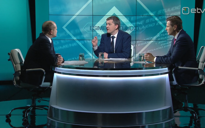 Анти Пооламетс и Ханно Певкур в передаче