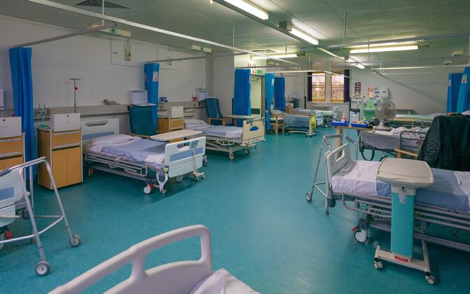 Отделение интенсивной терапии в больнице Великобритании.