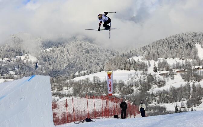 Kelly Sildaru in action in Kreischberg, Austria.