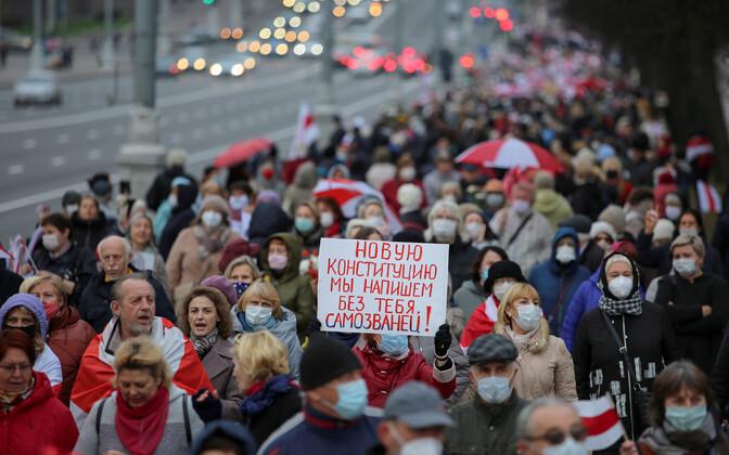 Протесты против итогов президентских выборов продолжаются в Белоруссии на протяжении пяти месяцев.