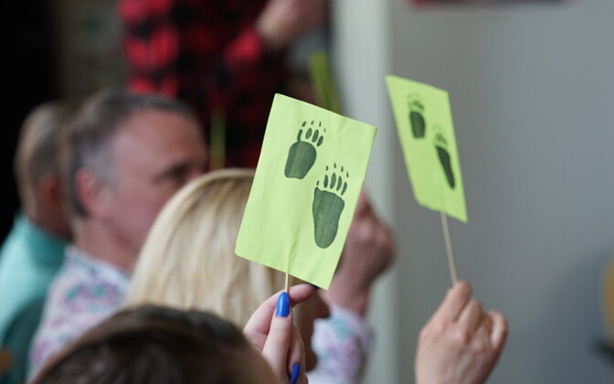 Estonian Greens at a meeting.