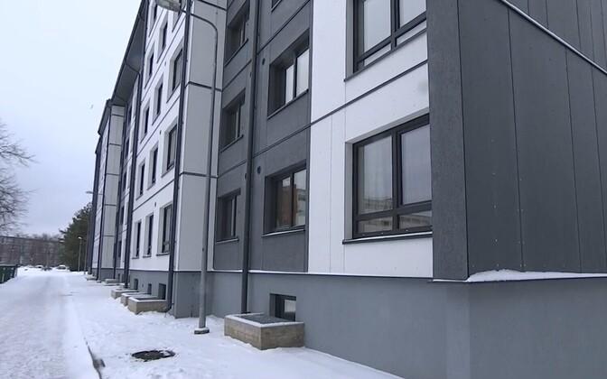 Общежитие в Мустамяэ реновировали по новой технологии.