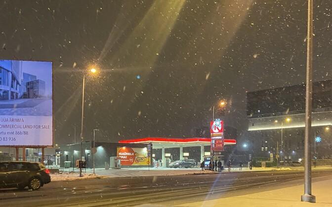 Стоимость топлива на заправке Circle K в Таллинне 12 января 2020 года.