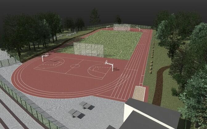Проект общественного стадиона в Мустамяэ.