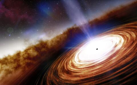 Leitud kvasar kunstniku nägemuses.