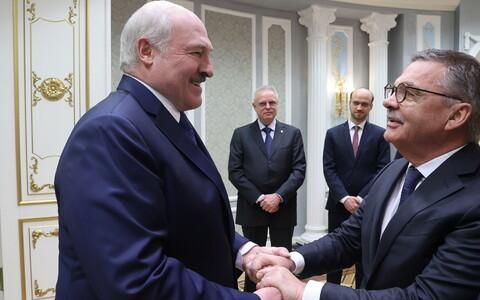 Aleksandr Lukašenko ja Rene Fasel