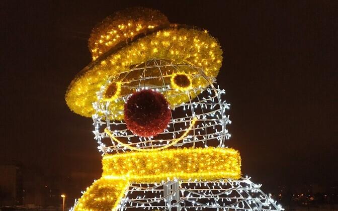 Снеговик в парке Тондилоо.